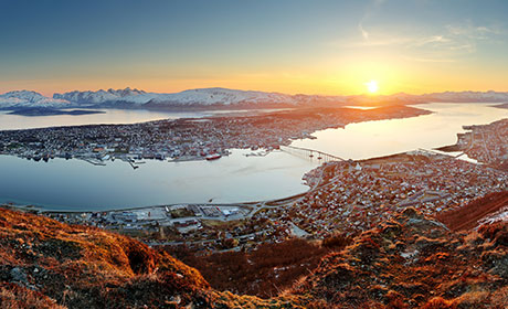 Tromsø at sunset
